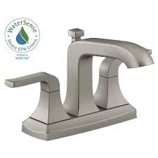 satin nickel bathroom faucets: centerset  handle bathroom faucet in vibrant brushed nickel