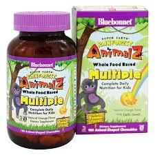 Bluebonnet Nutrition - Super Earth <b>Rainforest Animalz Whole Food</b> ...