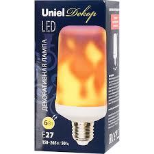 <b>Лампа светодиодная Uniel</b> E27 170-240 В 6 Вт цилиндр 300 лм ...