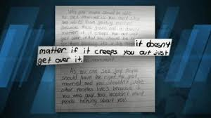 fourth grader    s pro gay marriage essay goes viral   abc newsvideo  a fourth grade student wrote class essay supporting gay marriage