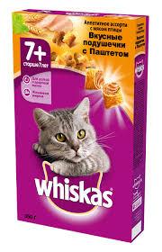 Сухой корм <b>WHISKAS 7</b>+ для <b>пожилых</b> кошек старше <b>7</b> лет с ...