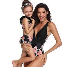 beach <b>bikini swimsuits mother daughter swimwear</b> family look ...