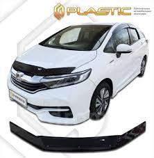 <b>Дефлектор капота CA</b> (мухобойка) Honda Shuttle 2015- черный ...