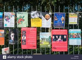 advertising flyers stock photos advertising flyers stock images posters and flyers tied to a fence advertising events in cambridge uk part of the