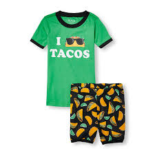 boys sleepwear the children s place ca off boys short sleeve i taco tacos top and taco print shorts pj