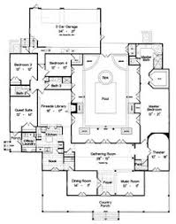 images about House Plans on Pinterest   Archipelago  Floor    First Floor Plan of Country Luxury House Plan I would move the garage to the front so you    d come in through the laundry room  take the pool out and make it