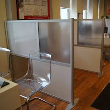 60 wide x 51 high office partition translucent white frosted hammered freeze cheap office dividers