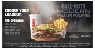<b>BURGER</b> KING® Restaurants Teams up With <b>Call</b> of Duty®: Modern ...