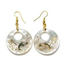 2019 <b>Gold Plated</b> Ocean Dolphin Coconut <b>Tree Pattern</b> Charm ...