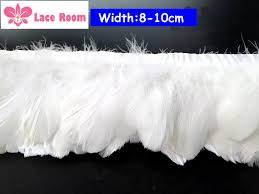 Buy 3 <b>Yards Lot 8</b> 10cm Wide White feather lace tassel Lampshade ...