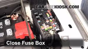 replace a fuse 2011 2014 ford edge 2013 ford edge se 2 0l 4 cyl 6 replace cover secure the cover and test component