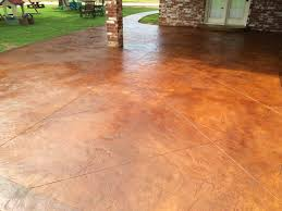 flooring options stamped concrete cost