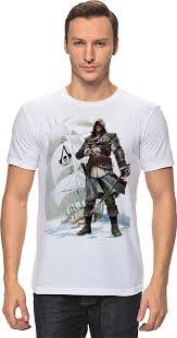<b>Футболка классическая Printio</b> Assassin's creed IV Black <b>flag</b> ...