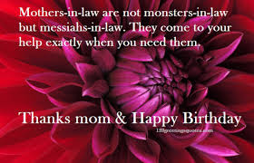 Mother In Law Birthday Quotes. QuotesGram via Relatably.com