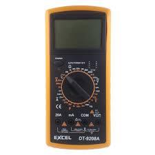 Digital Multimeter DC AC Voltage Current Resistance Capacitance ...