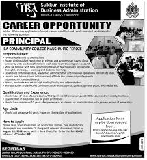 iba institute of business administration sukkur requires principal iba institute of business administration sukkur requires principal for iba community college
