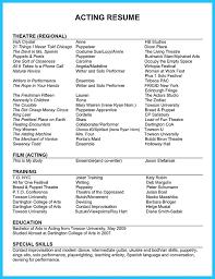 10 acting resume template for microsoft word httpresumesdesigncom musical theatre resume sample musical theater resume sample sample musical theatre resume