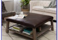 storage box sams  square storage trunk coffee table middot leather coffee table ottoman