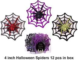 Christmas Traditions 4 inch Glittered <b>Halloween Decorations Spider</b>