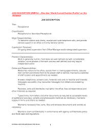 best photos of sample job description ceo job description sample receptionist job description