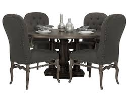Tufted Leather Dining Room Chairs Dining Room Casual Image Of Dining Room Decoration Using White