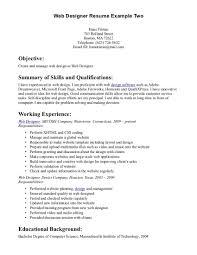 associate web designer resume template web design resume example