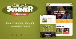 <b>Hello Summer</b> | A Children Holiday Camp WordPress Theme by ...