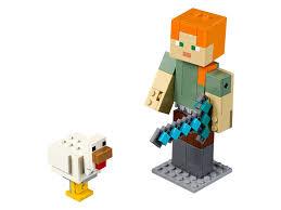 Большая <b>фигурка</b>: Алекс с цыплёнком 21149 | <b>Minecraft</b>™ | LEGO ...
