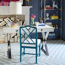 perfect modern home office view in gallery home office desk from jonathan adler with hollywood regency blue modern home office