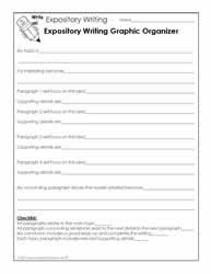 expository writing worksheetsworksheetsexpository writing graphic organizer