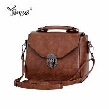<b>YBYT</b> brand 2018 new <b>vintage</b> casual <b>women</b> PU leather small ...