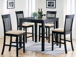 small dining tables sets:  pc espresso finish wood counter height small dining table set