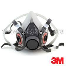 <b>Полумаска 3М</b> серии 6000 (размер <b>6100</b>, 6200, 6300), маска 3М ...