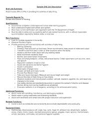 Cna Job Description On Resume Resume For Your Job Application
