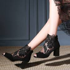 enmayer women high heels pumps platform shoes summer peep toe party shoes thin bowtie glitter sequined cloth cr631