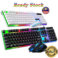 Keyboard G21 <b>T</b>-<b>WOLF TF200</b> Gaming Keyboard Mouse Rainbow ...