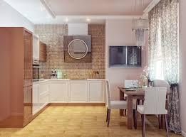 dining table interior design kitchen:   modern walnut white kitchen dining