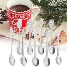 2pcs <b>Christmas Stainless Steel Spoon</b> ECO FriendlyCoffee Spoon ...