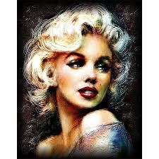 Marilyn Monroe <b>Paint By</b> Number Kit <b>DIY</b> Acrylic Oil <b>Painting</b> On ...