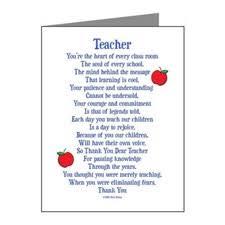Teacher Appreciation Thank You Cards | Teacher Appreciation Note ... via Relatably.com