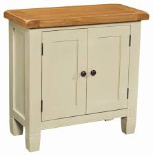 Small Wood Cabinet With Doors Beige Painted Mahogany Wood Small Cabinet With Double Swing Doors