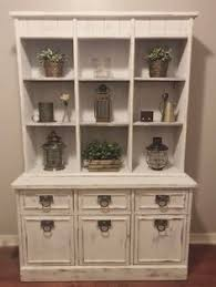rustic hutch dining room: beautiful white vintage rustic hutch rustic dining room vintage hutch distressed white