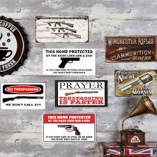 Detail Feedback Questions about <b>Gun Vintage</b> Metal Plate <b>Tin Signs</b> ...