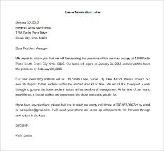 lease termination letter to residential manager example rental termination letter to tenant