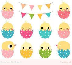 <b>Easter</b> chick clipart, Cute chicken clipart, Kawaii chicken clip art ...