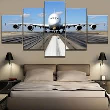 Buy 5 piece canvas wall art <b>airplane</b> and get free shipping on ...