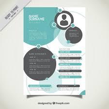 graphic designer resume template vector   free downloadcircles resume template