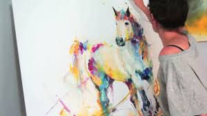 SPIRIT - <b>Abstract Horse</b> Oil Speed <b>Painting</b> - YouTube