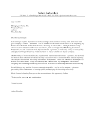 internship cover letter sample letter format  letter internship sample cover