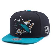 <b>Бейсболка Mitchell & Ness</b> Nhl <b>San</b> Jose Sharks XL Logo 2 Tone ...